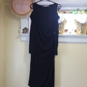Rachel Roy black midi dress